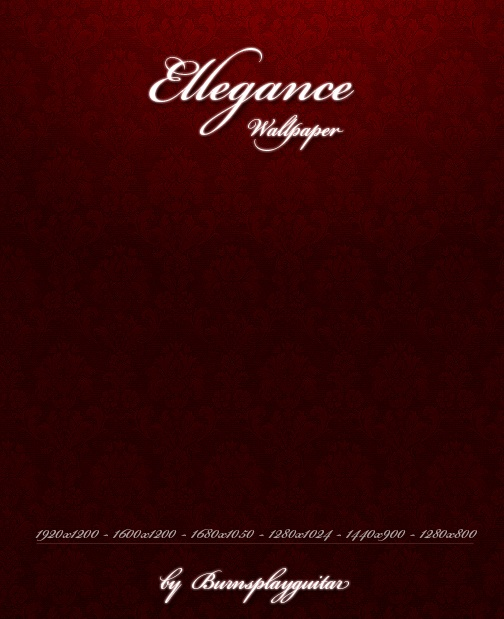 Red Elegant Wallpaper Set