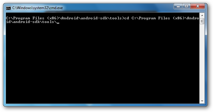 Run Commands on Android Device through Windows CMD