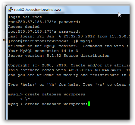 Secure Shell via PuTTy