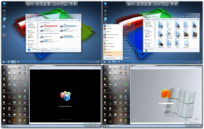 Windows 7 Theme Crystal