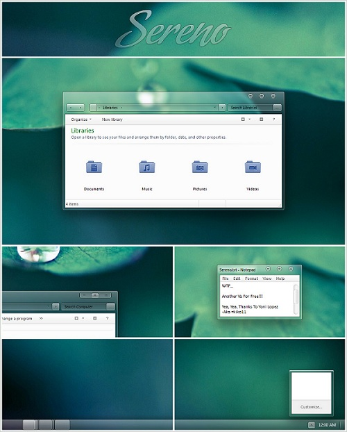 Windows 7 Theme Sereno