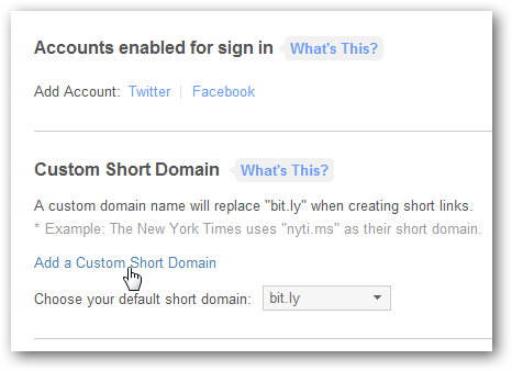 Custom URL Shortener URL
