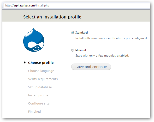 Installing Drupal on Rackspace Cloud