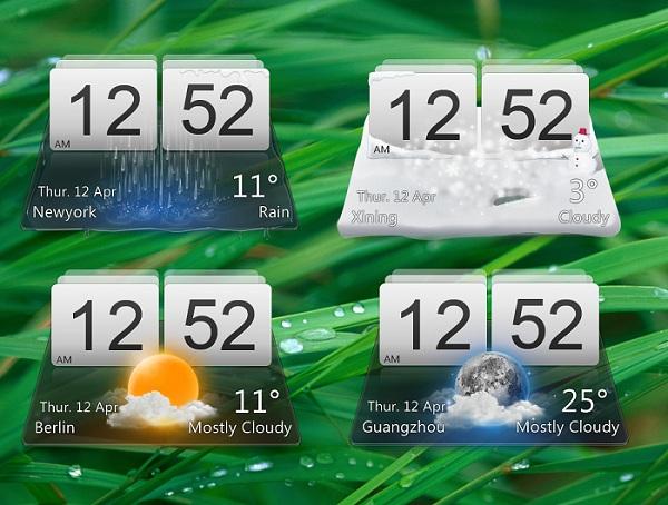 LG Optimus Like Desktop Weather Widget