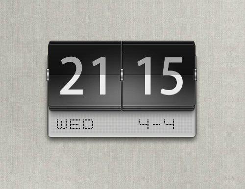 Metallic Flipping Clock Widget