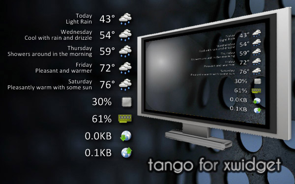 Minimalistic Weather Widget Tango