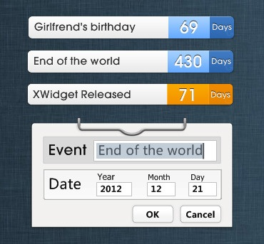 Modern Calender Widget for Windows PC