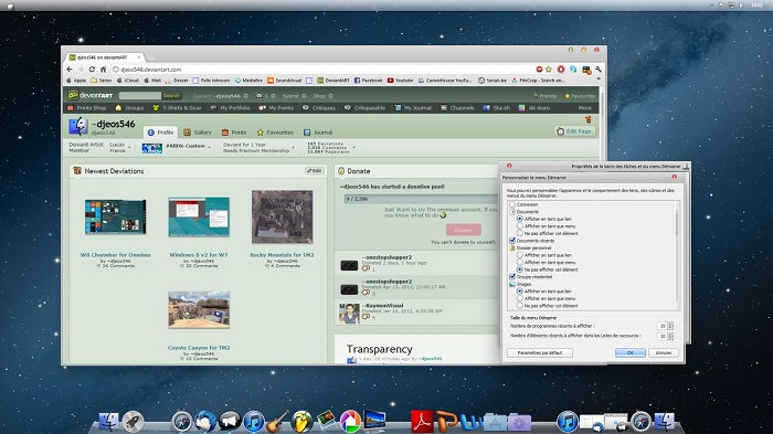 Windows 7 Theme OSX Mountain Lion v2