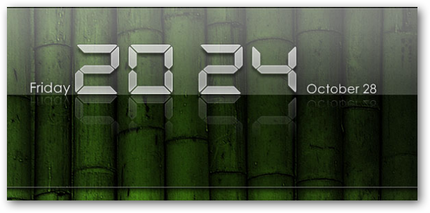iPad Clear Clock Widget for Windows PC