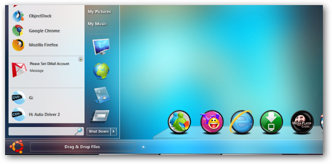 Glass Taskbar Widget for XWidget