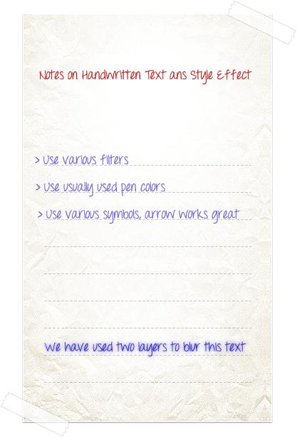 Handwrittentext-photoshop