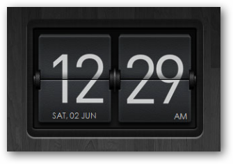 Dark Flipping Clock Widget