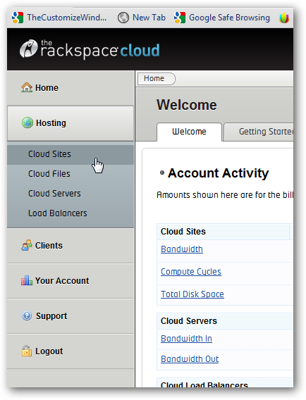 Installing TYPO3 on Rackspace Cloud Sites