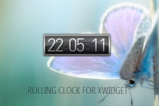 Rolling Clock Widget for Windows PC
