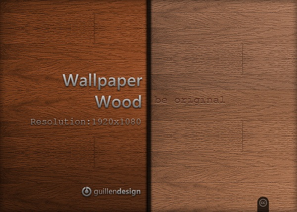 Unpolished Wooden Wallpaper Set