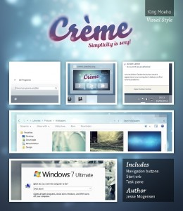 Windows 7 Theme Crème