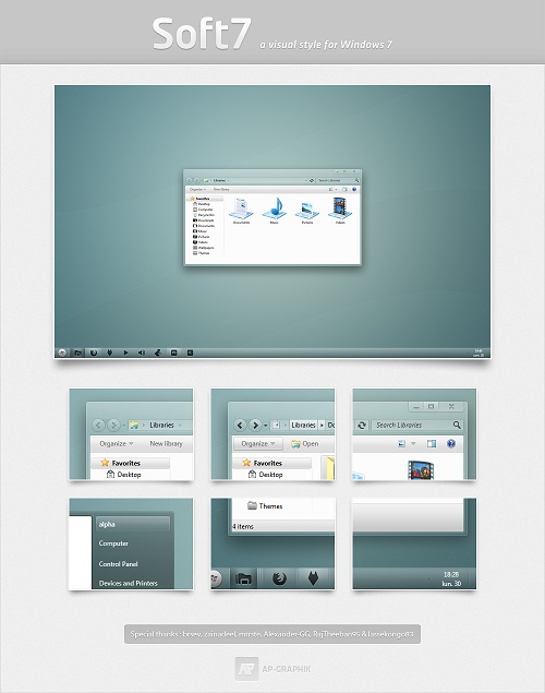Windows 7 Theme Soft7 SE
