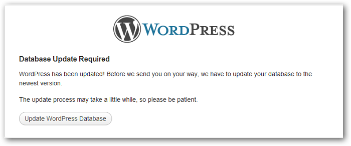 WordPress update errors