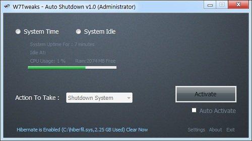 Auto Shutdown Timer