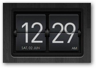 Dark Flipping Clock Widget