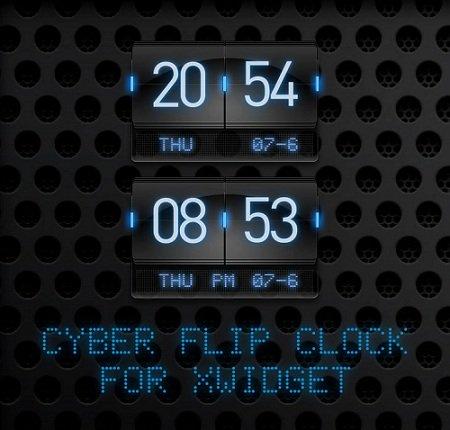 Neon Flip Clock Widget for Windows PC