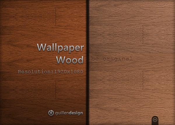 Unpolished Wooden Wallpaper Set