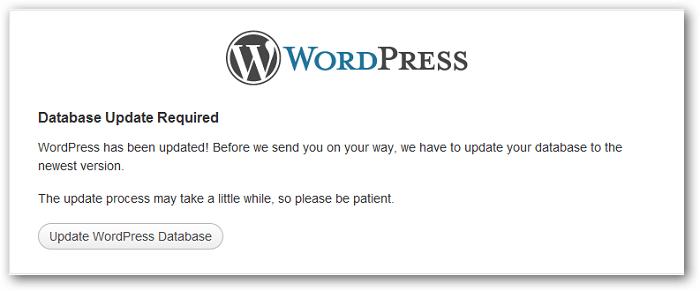 WordPress update errors