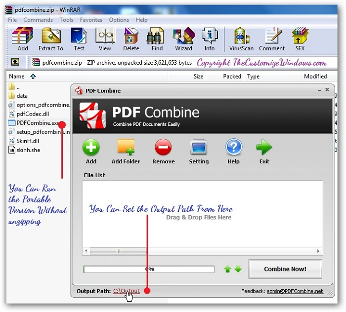 Combine Files to PDF Format Using PDF Combine Freeware