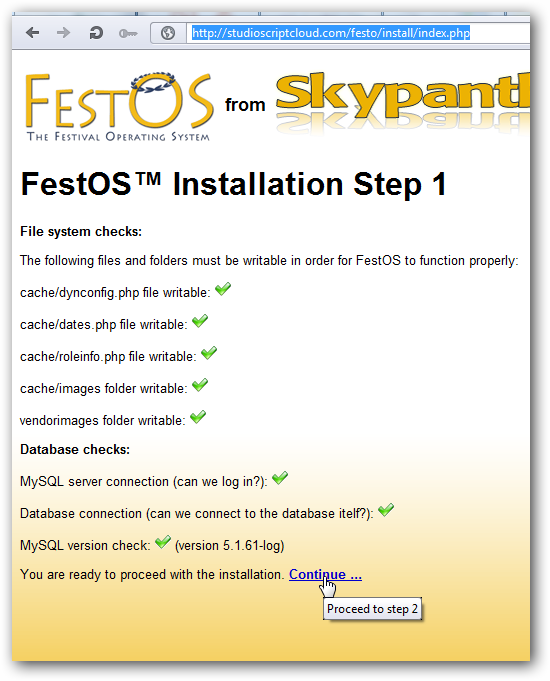 Installing FestOS on Rackspace
