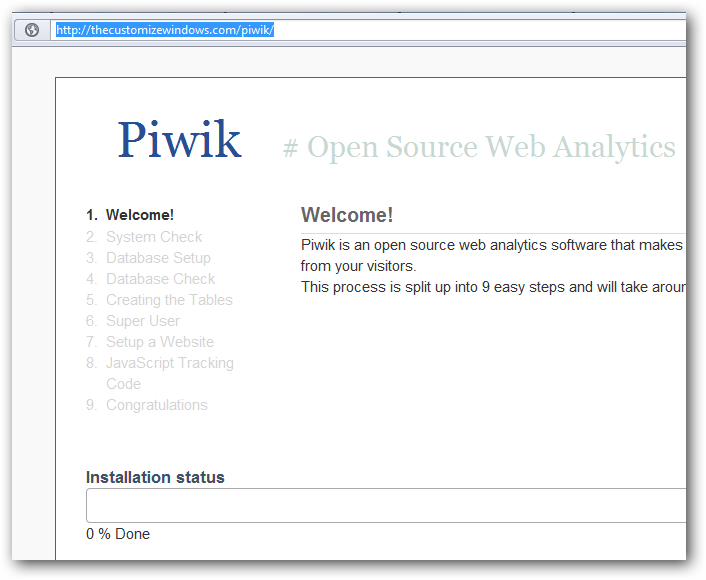 Installing Piwik Analytics on Rackspace Cloud