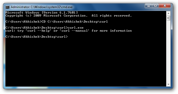 Installing cURL in Windows