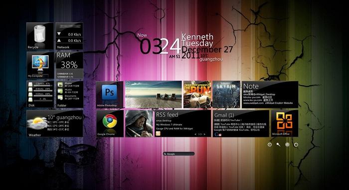 Metro UI for Xwidget
