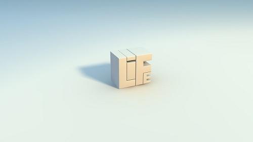 Minimalistic 3D Wallpaper Life