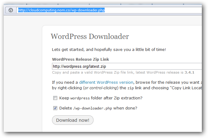 Uzipping WordPress on Rackspace Cloud Sites