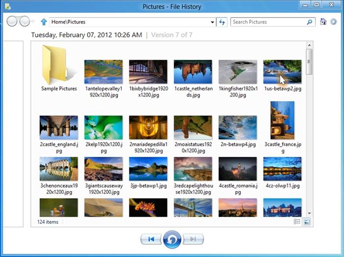 Windows 8 File History