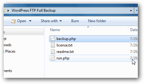 WordPress FTP Full Backup