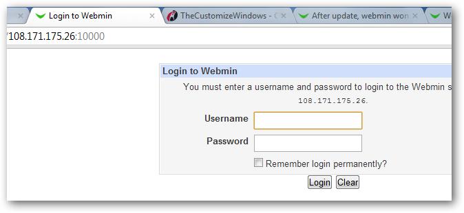 webmin rackspace