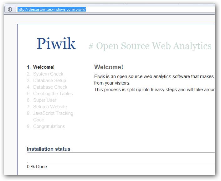 Installing Piwik Analytics on Rackspace Cloud