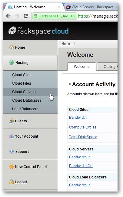 Installing Virtualmin on Rackspace Cloud Server