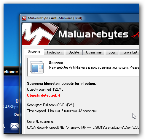 Malwarebytes Removal of Live Security Platinum