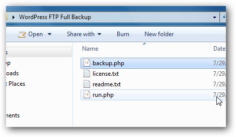 WordPress FTP Full Backup