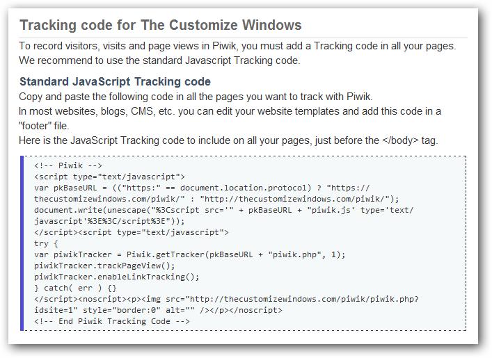 piwik code