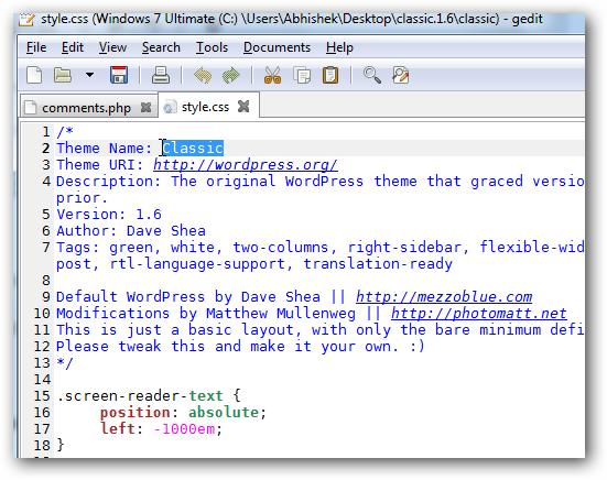 Creating WordPress Theme