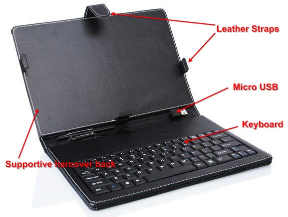 Keyboard cum Leather Casing For Android Tablet