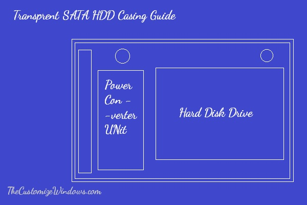Transprent SATA HDD Casing blueprint