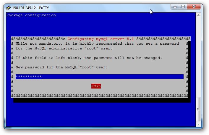 installing MySQL debian