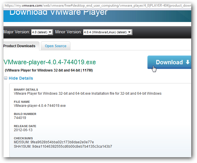 Run Any Operating System on Windows Using VMware Player Freeware