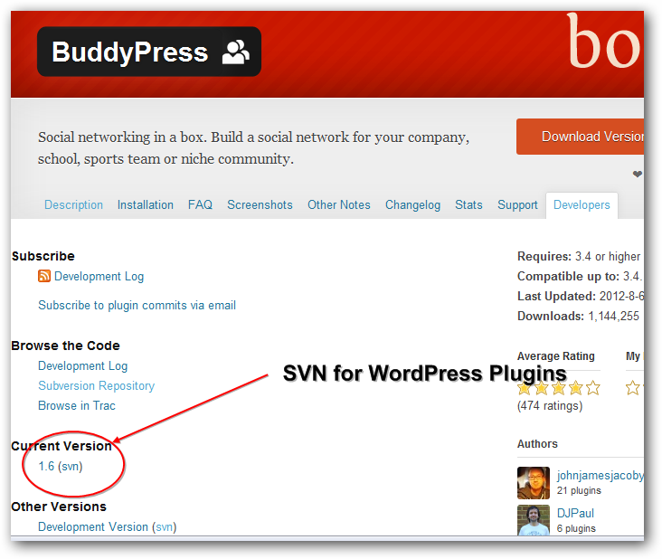 SVN WordPress