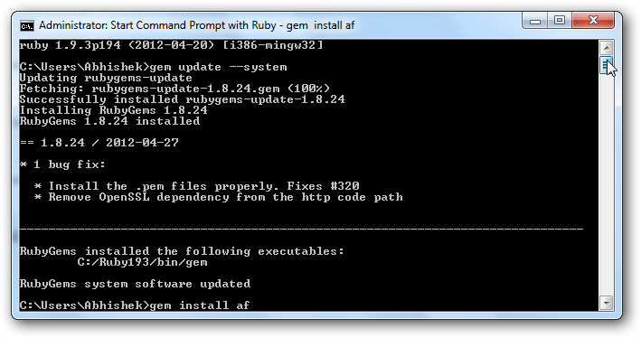 AppFog Command Line Interface for Windows PC