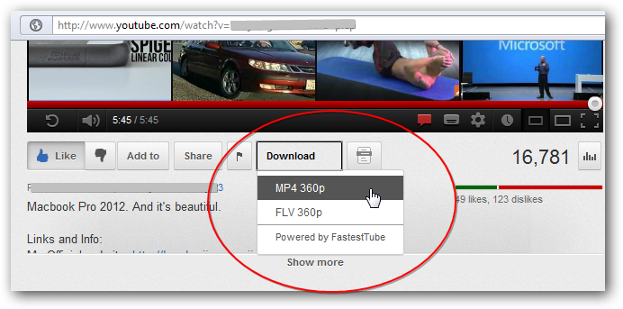 Download youtube videos without any software or plugin!